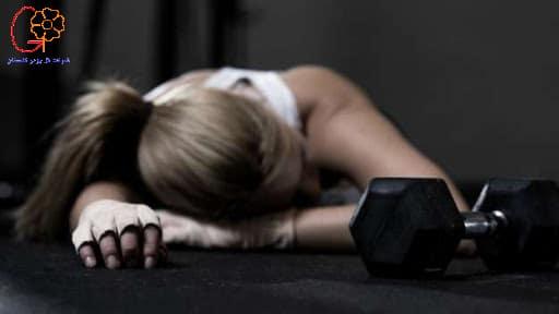 تمرین زدگی یک ورزشکار